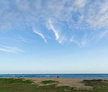 solitude at the beach