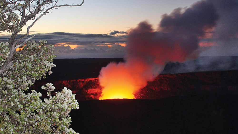Halema'uma'u Crater in Kīlauea Volcano