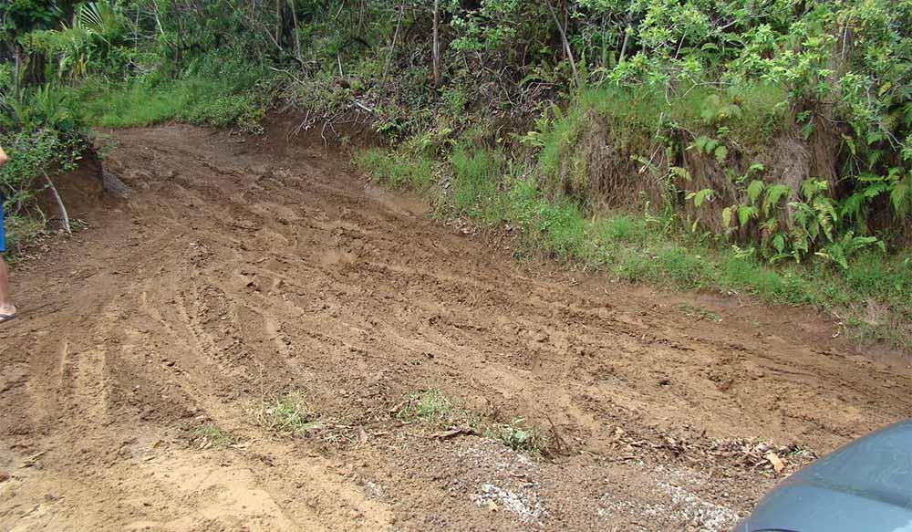 Muddy road, Maui