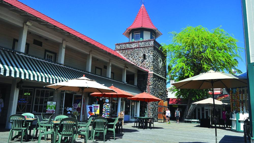 Kona Inn Shopping Village is home to a variety of shops and restaurants