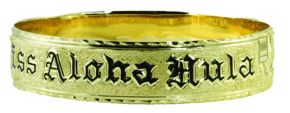 Lehua Jewelers was commissioned to create the Miss Aloha Hula award bracelet in 2013