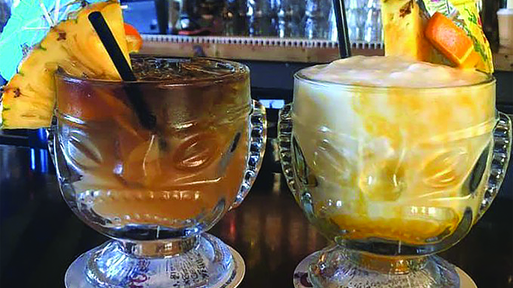 A couple of the concoctions you can get at South Shore Tiki Lounge