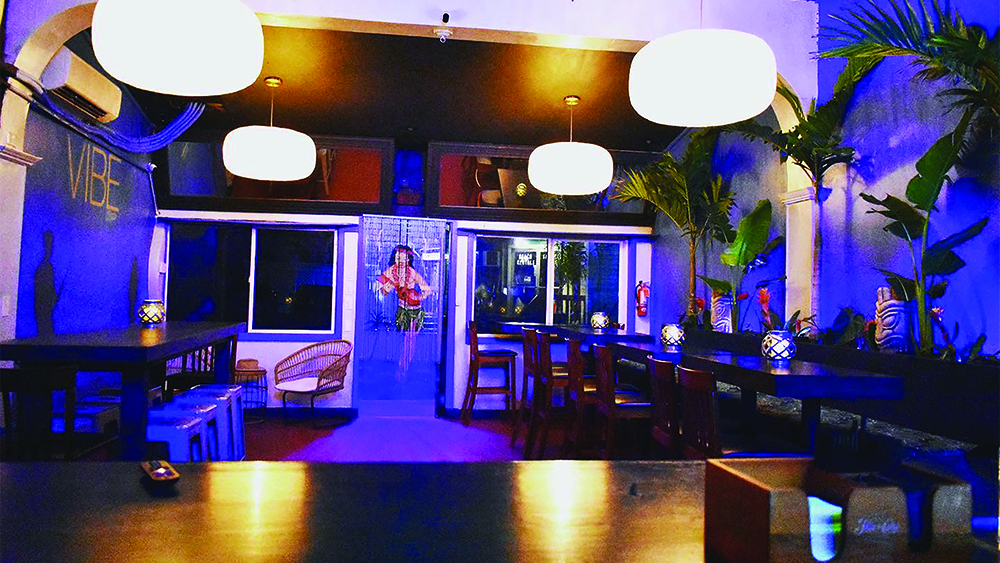 The cool, laid back interior of VIBE Bar Maui