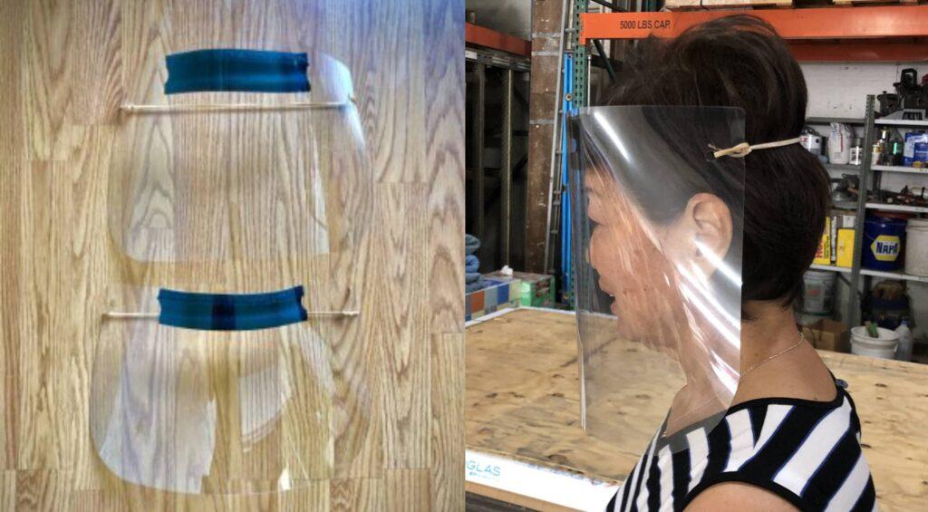 Min's Plastic face shields