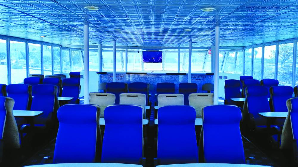 A view of the SemiSub's upper deck