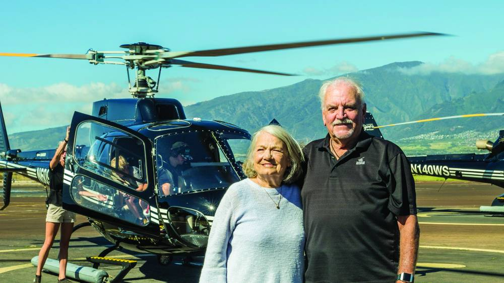Anna and Ross Scott, Sunshine Helicopters