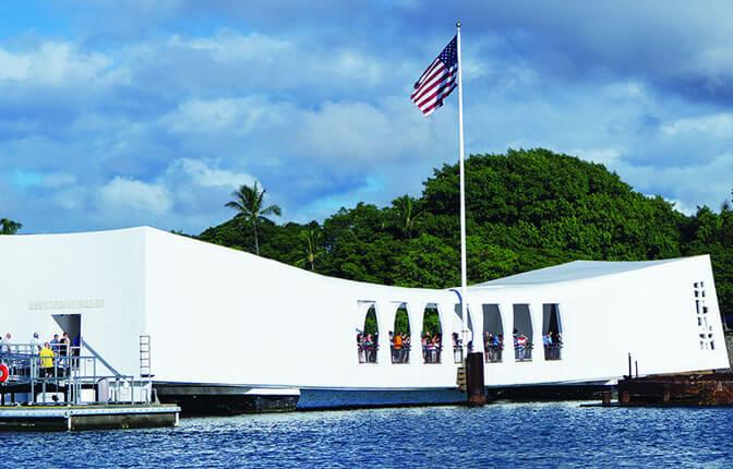 USS Arizona Memorial at the Pearl Harbor National Monument
